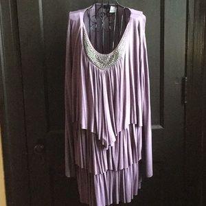 Beautiful Lavendar Tiered Dress
